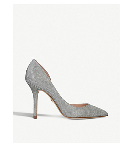 KURT GEIGER LONDON Belgravia glitter heeled courts (Silver