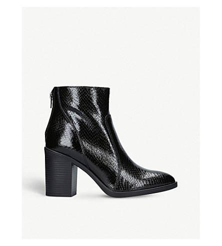 KURT GEIGER LONDON 狡猾的漆皮踝靴 (黑色