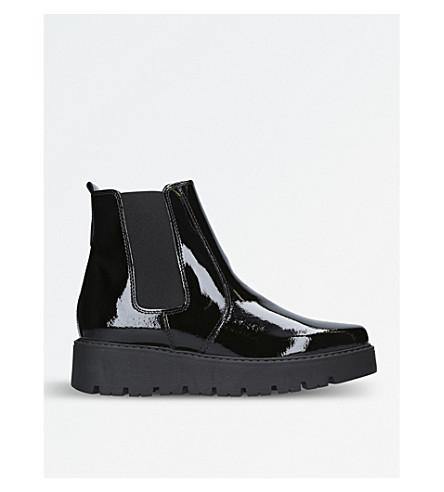 KURT GEIGER LONDON Stompton patent ankle boots (Black