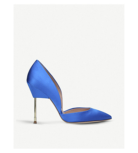 KURT GEIGER LONDON Bond satin court shoes (Blue
