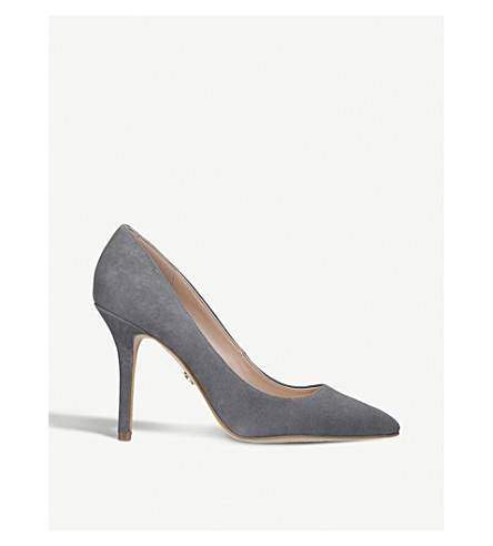 KURT GEIGER LONDON Mayfair suede courts (Grey