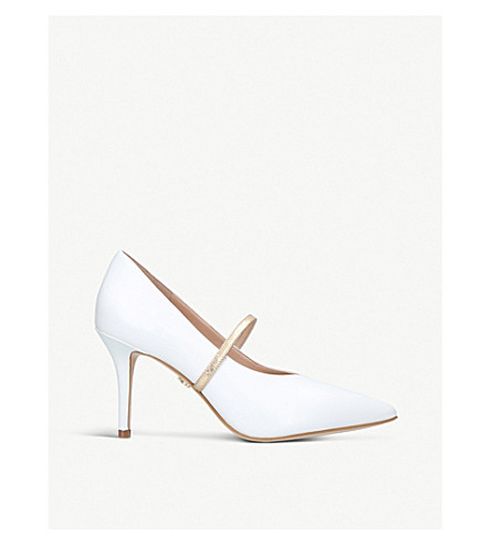 KURT GEIGER LONDON Heddon leather courts (White