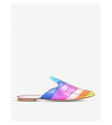 KURT GEIGER LONDON Kita striped leather mules (Mult/other