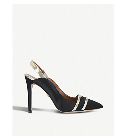 KURT GEIGER LONDON Stratton high heel satin courts (Black/comb