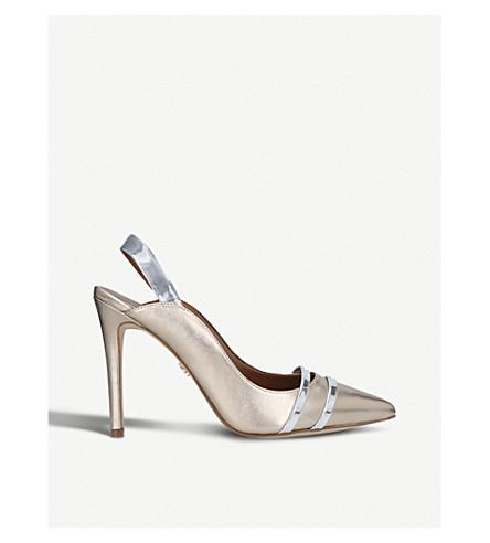 KURT GEIGER LONDON Stratton high heel satin courts (Bronze