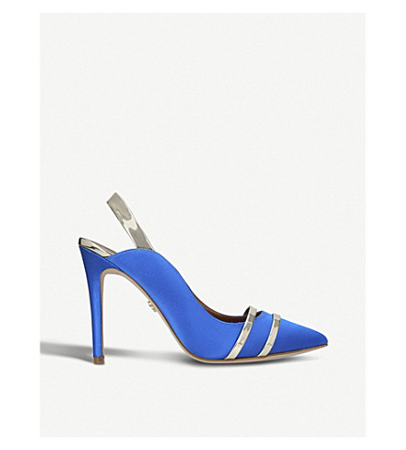 KURT GEIGER LONDON Stratton high heel satin courts (Blue