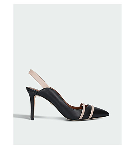 KURT GEIGER LONDON Berkley heeled leather courts (Black