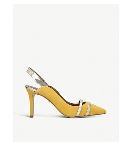 KURT GEIGER LONDON Berkley suede slingback courts (Yellow