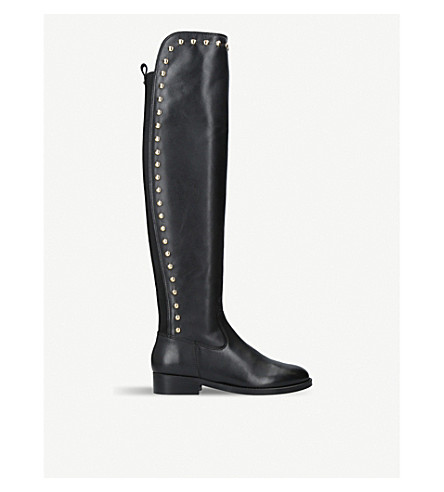 KURT GEIGER LONDON Volt over-the-knee leather boots (Black