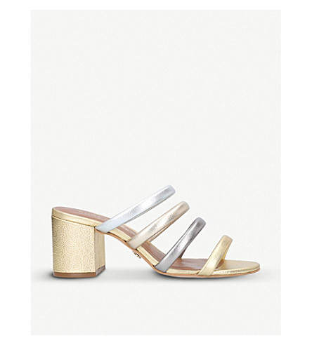 KURT GEIGER LONDON Major strappy metallic-leather sandals (Gold