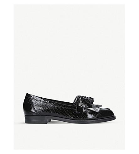 KURT GEIGER LONDON Klarke snake-embossed leather tassel loafers (Black