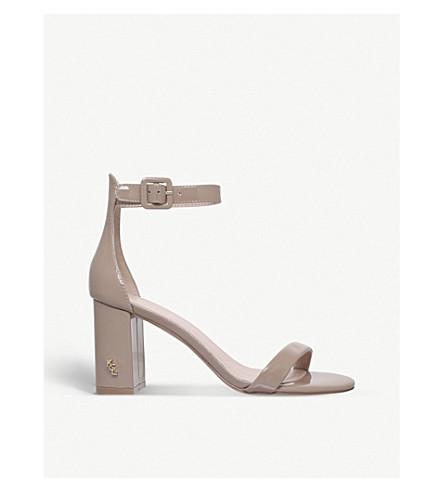KURT GEIGER LONDON Langley patent-leather heeled sandals (Camel