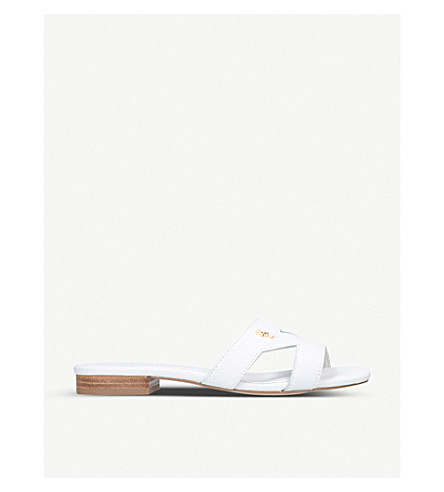 KURT GEIGER LONDON Odina cut-out leather sandals (White