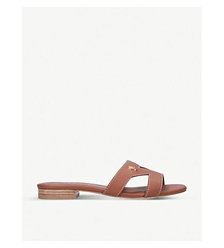 KURT GEIGER LONDON Odina cut-out leather sandals (Tan