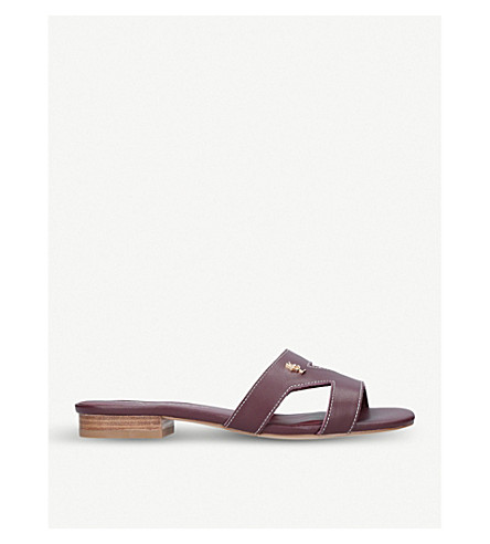 KURT GEIGER LONDON Odina cut-out leather sandals (Wine
