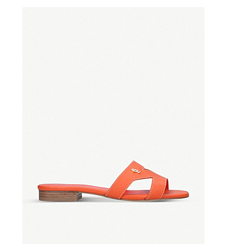 KURT GEIGER LONDON Odina cut-out leather sandals (Orange