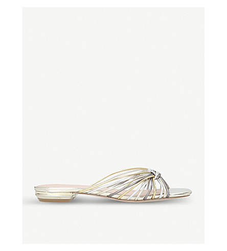 KURT GEIGER LONDON Maize strappy metallic sandals (Metal+comb
