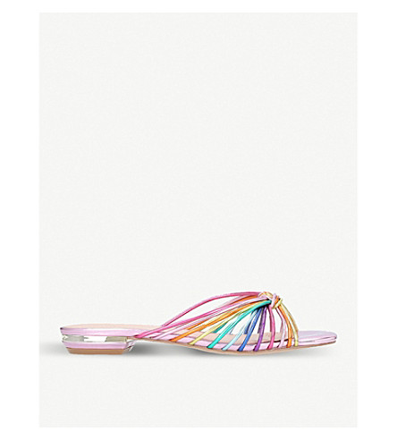 KURT GEIGER LONDON Maize strappy metallic sandals (Mult/other