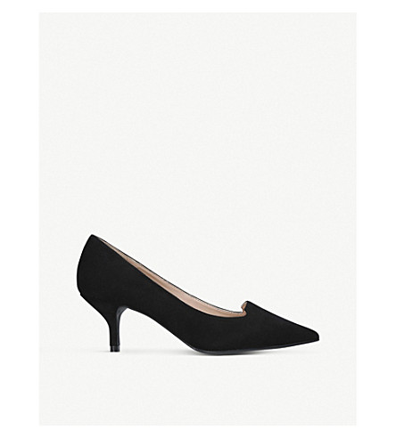 KURT GEIGER LONDON Peony suede courts (Black