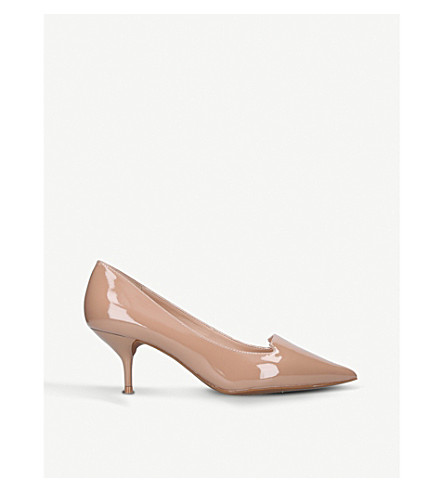 KURT GEIGER LONDON Peony patent leather courts (Camel