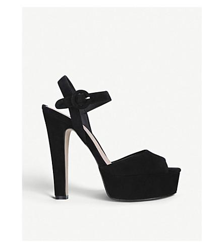 KURT GEIGER LONDON Molton suede peep-toe sandals (Black