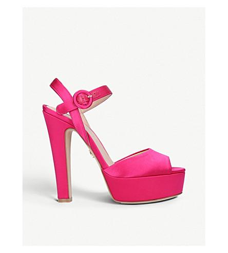 KURT GEIGER LONDON Molton suede peep-toe sandals (Pink