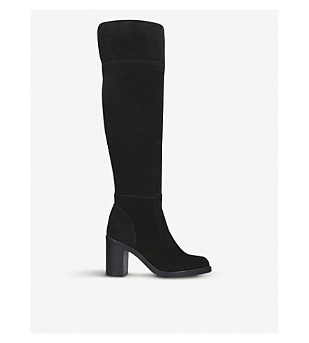 KURT GEIGER LONDON over-the-knee 麂皮绒靴 (黑色