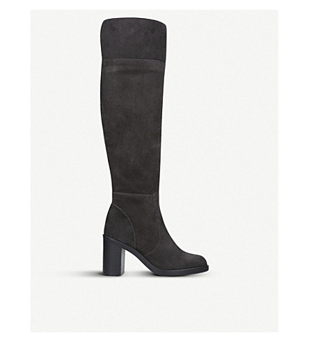 KURT GEIGER LONDON Tring suede over-the-knee boots (Grey