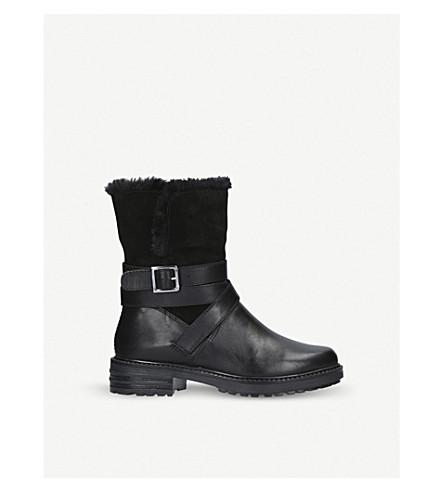 KURT GEIGER LONDON Soldier leather biker boots (Black