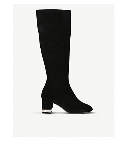 KURT GEIGER LONDON 蒂娜麂皮绒靴子 (黑色