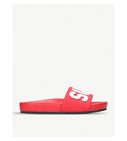 KURT GEIGER LONDON Summer typography sliders (Red