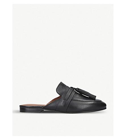 KURT GEIGER LONDON Kaiser tasselled leather mules (Black
