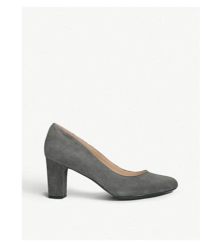 KURT GEIGER LONDON Chester suede court shoes (Grey