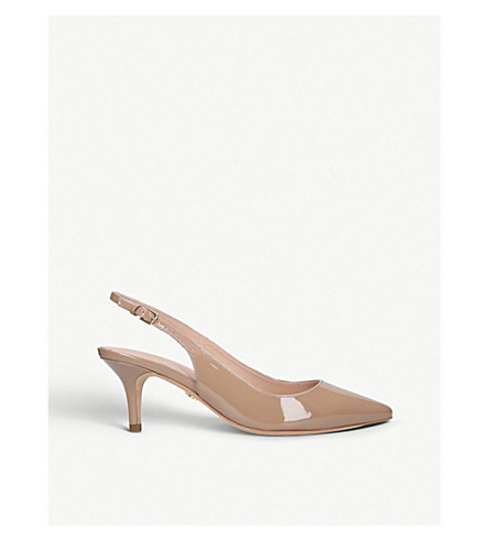KURT GEIGER LONDON Lowndes leather court shoes (Nude