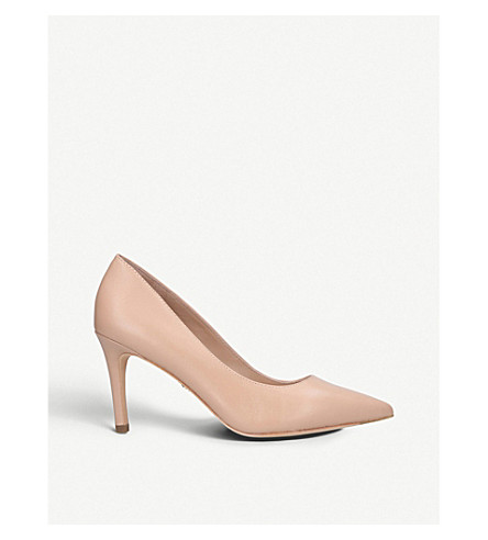 KURT GEIGER LONDON Lowndes patent-leather court shoes (Camel