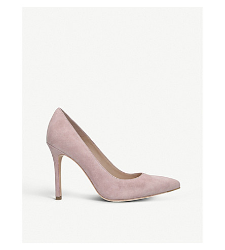 KURT GEIGER LONDON Brompton pointed suede courts (Nude