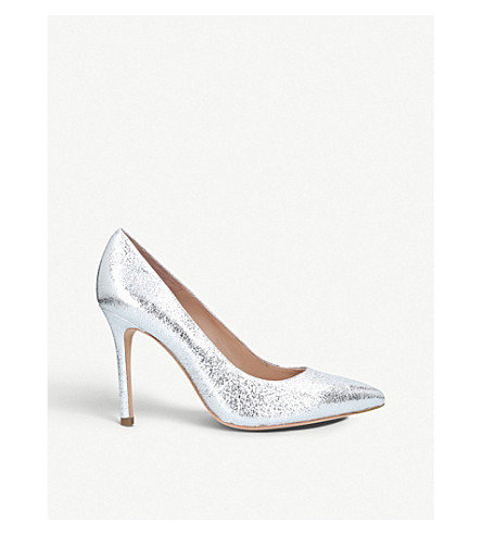 KURT GEIGER LONDON Brompton metallic leather courts (Silver