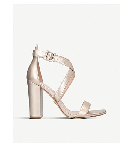 KURT GEIGER LONDON Dover metallic leather heeled sandals (Bronze