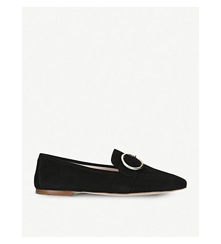 KURT GEIGER LONDON Kenner suede slip-on loafers (Black
