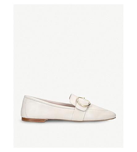 KURT GEIGER LONDON Kenner leather slip-on loafers (White