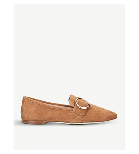 KURT GEIGER LONDON Kenner suede slip-on loafers (Tan