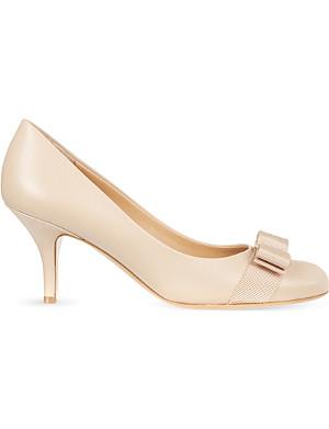 FERRAGAMO Carla 70 leather court shoes