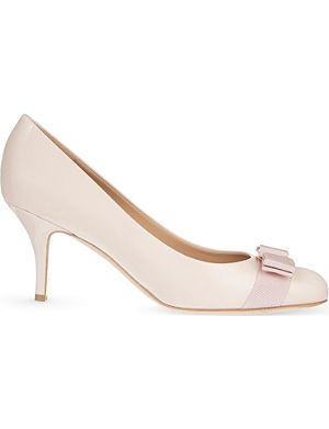 FERRAGAMO Carla 70 leather court shoes