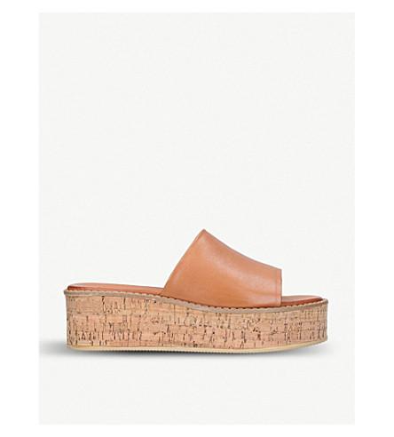 KURT GEIGER LONDON Maci leather sandals (Tan