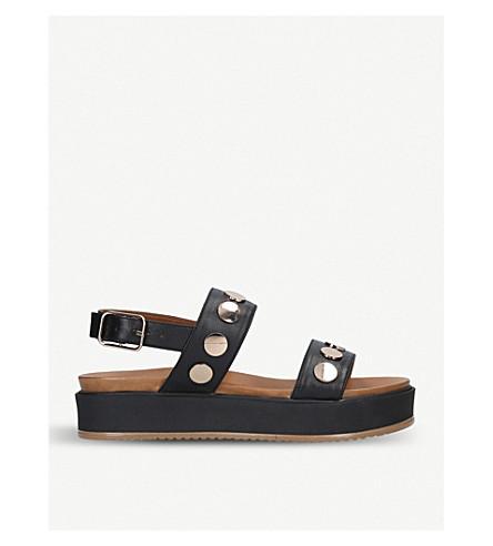 KURT GEIGER LONDON Makenna leather sandals (Black