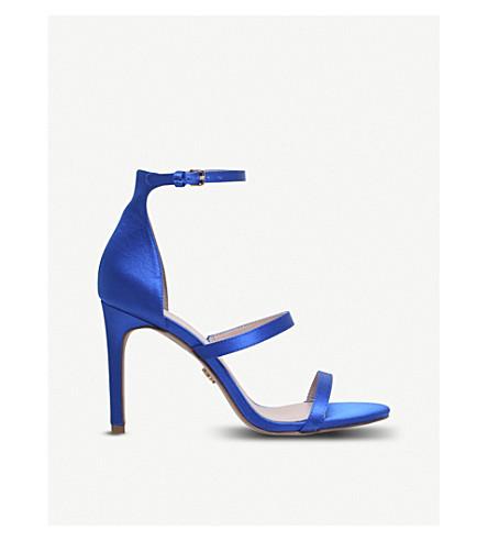 KURT GEIGER LONDON Park Lane satin heeled sandals (Blue