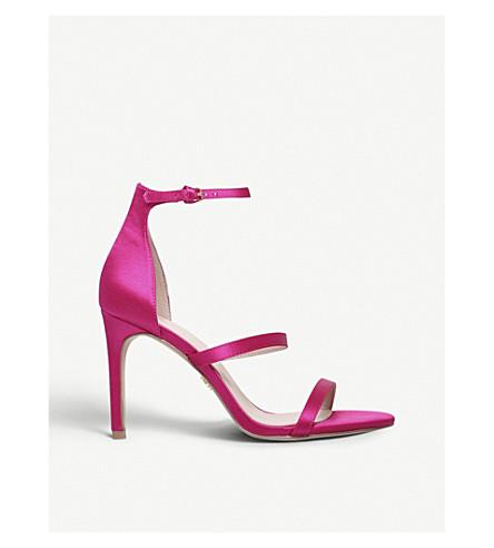 KURT GEIGER LONDON Park Lane satin heeled sandals (Pink
