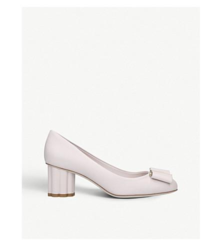 SALVATORE FERRAGAMO Capua 55 leather court shoes (Pale+pink
