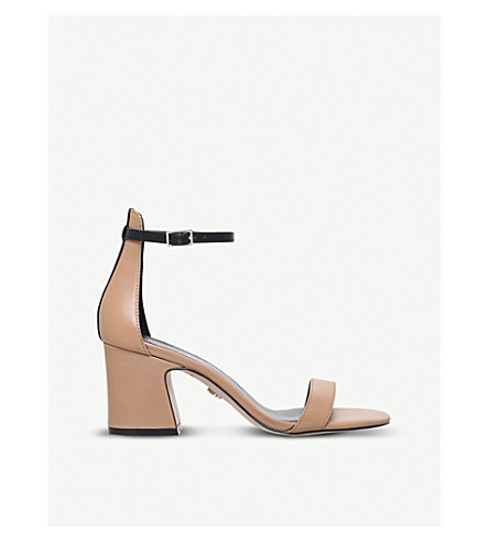 KURT GEIGER LONDON Duke leather heeled sandals (Camel