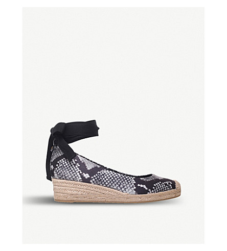 TORY BURCH Heather wedge espadrilles (Black